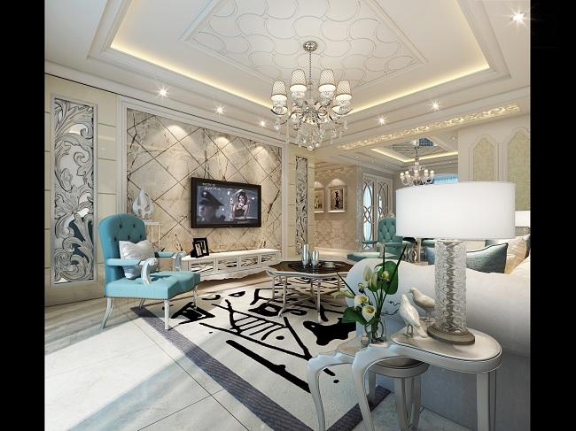 欧式风格家庭装潢设计案例